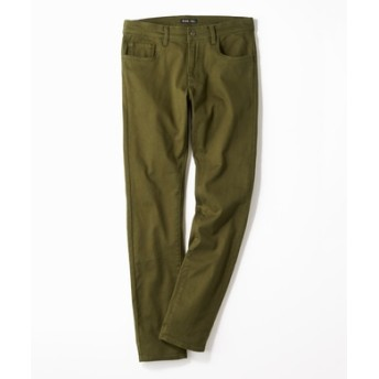PLUS ONE 【WEB限定】24色スキニーパンツ メンズ【店舗裾上げ不可】 オリーブ
