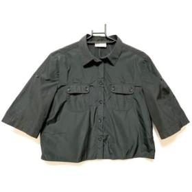 【中古】 バレンチノ R.E.D VALENTINO 半袖シャツブラウス サイズ40 M レディース 黒
