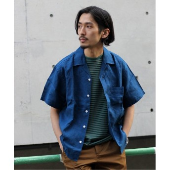【40%OFF】 ジャーナルスタンダード ドビーオープンカラーシャツ メンズ ネイビーB S 【JOURNAL STANDARD】 【セール開催中】