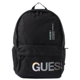 ゲス GUESS FADE OUT LOGO BACKPACK (BLACK)