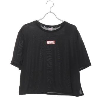 マーベル MARVEL レディース フィットネス 半袖Tシャツ MV-3F2019TS