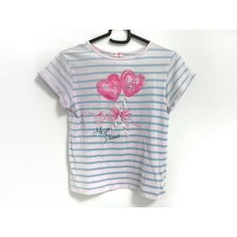 【中古】 メゾピアノ mezzo piano 半袖Tシャツ サイズ140(11) レディース ピンク グリーン マルチ