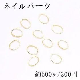 ネイルパーツ メタルパーツ オーバルフレーム 7.4×9.7mm ゴールド【約500ヶ】