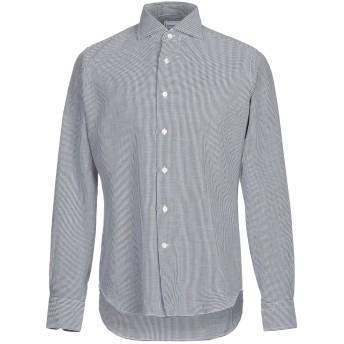 《セール開催中》LEXINGTON メンズ シャツ ダークブルー 40 コットン 100%