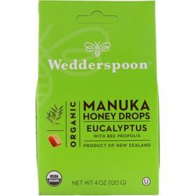 オーガニックマヌカハニードロップ、ミツバチプロポリスのユーカリ油、4 oz (120 g)