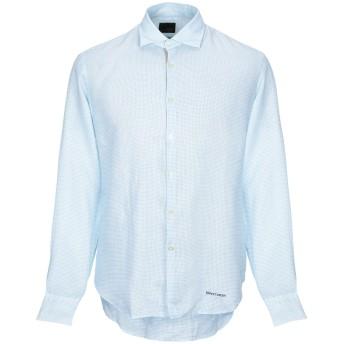《期間限定セール開催中!》HENRY COTTON'S メンズ シャツ アジュールブルー 40 麻 100%