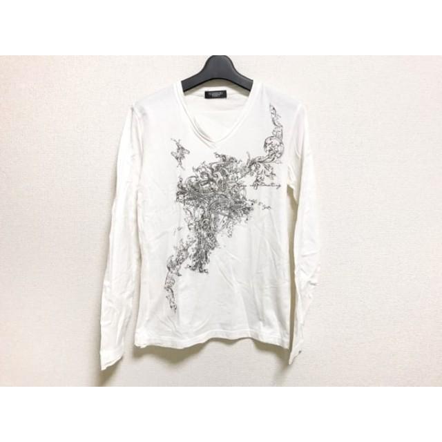 【中古】 トルネードマート TORNADO MART 長袖Tシャツ メンズ 白 黒 ゴールド ラインストーン