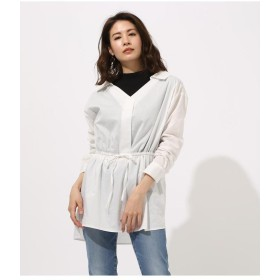 AZUL BY MOUSSY アズールバイマウジー Waist shirring layered Blouse