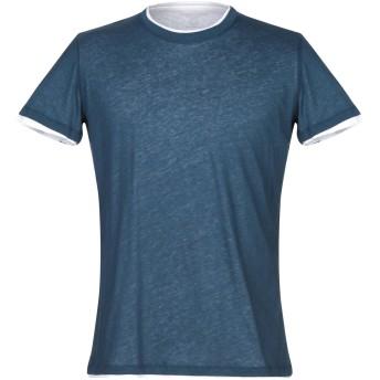 《セール開催中》MAJESTIC FILATURES メンズ T シャツ ブルー M コットン 85% / カシミヤ 15%