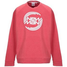 《セール開催中》NEW MAN メンズ スウェットシャツ レッド XXL コットン 70% / ポリエステル 30%