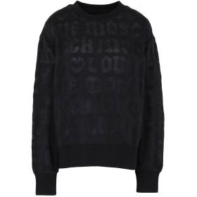 《送料無料》LOVE MOSCHINO レディース スウェットシャツ ブラック 38 コットン 67% / ポリエステル 33%