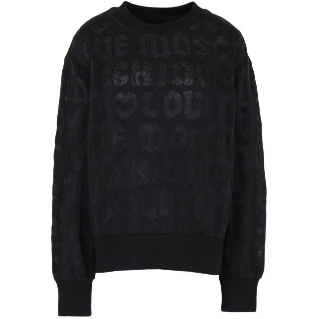 《期間限定 セール開催中》LOVE MOSCHINO レディース スウェットシャツ ブラック 38 コットン 67% / ポリエステル 33%