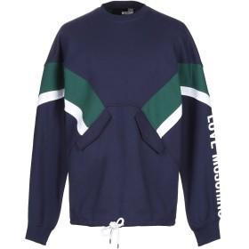 《期間限定 セール開催中》LOVE MOSCHINO メンズ スウェットシャツ ブルー XS コットン 100% / ポリウレタン