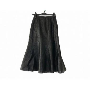 【中古】 レリアン Leilian ロングスカート サイズ9 M レディース 黒