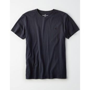 【アメリカンイーグル】AEロゴクルーネックスラブTシャツ