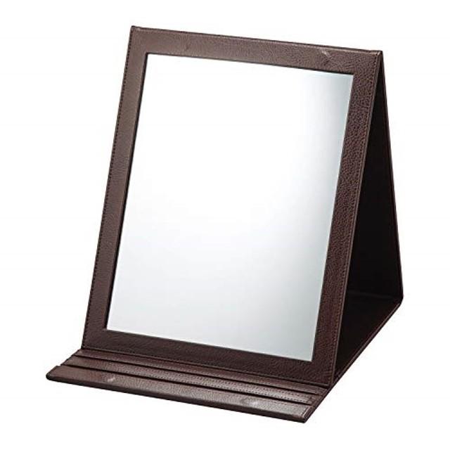 折立鏡デカミラー 角度調整5段階 卓上 A4サイズ メイク 化粧 おりたたみ