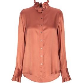 《期間限定セール開催中!》HER SHIRT レディース シャツ 赤茶色 S シルク 94% / ポリウレタン 6%