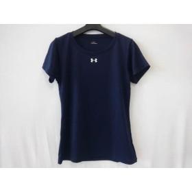 【中古】 アンダーアーマー UNDER ARMOUR 半袖Tシャツ サイズMD レディース ネイビー