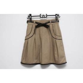 【中古】 アプワイザーリッシェ スカート サイズ2 M レディース ライトブラウン ダークブラウン