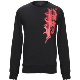 《セール開催中》PHILIPP PLEIN メンズ スウェットシャツ ブラック M コットン 65% / ポリエステル 35%