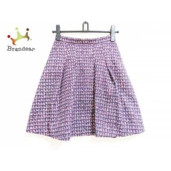 ニジュウサンク 23区 スカート サイズ32 XS レディース ダークネイビー×レッド×白 スペシャル特価 20190731