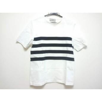 【中古】 フォンデル VONDEL 半袖Tシャツ レディース 白 黒 ボーダー