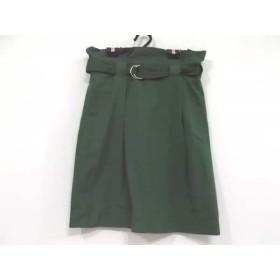 【中古】 レキップ ヨシエイナバ スカート サイズ38 M レディース グリーン L'EQUIPE