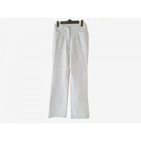 【中古】 ビースリー B3 B-THREE パンツ サイズ32 XS レディース 白 ダークグレー