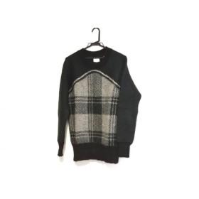【中古】 マメ mame 長袖セーター サイズ1 S レディース 美品 ダークグリーン ライトグレー 黒