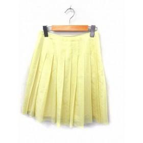 プロポーション ボディドレッシング PROPORTION BODY DRESSING スカート プリーツ 無地 シンプル ひざ丈 ジップ 3 イエロー