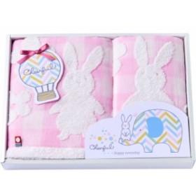 【ギフト】今治製タオル チアフル フェイスタオル&ウォッシュタオル ピンク 10-4809150