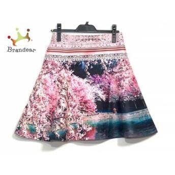メアリーカトランズ MARY KATRANTZOU スカート サイズ38 M レディース 美品 ピンク×黒×マルチ 値下げ 20190916