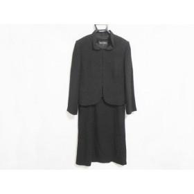 【中古】 ソワール ペルル SOIR PERLE ワンピーススーツ サイズ9 M レディース 美品 黒