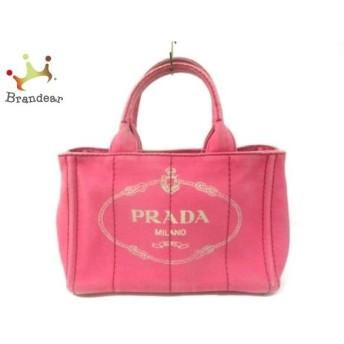 プラダ PRADA ハンドバッグ CANAPA 1BG439 ピンク×アイボリー キャンバス スペシャル特価 20190912【人気】
