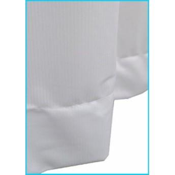 Haruka・Style(ハルカ・スタイル) UVカット2倍ヒダ 裾オーバーロックレースカーテン 2枚組 ミストプレミアム 100×183cm ホワイト