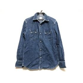 【中古】 オアスロウ orslow 長袖シャツ サイズ2 M メンズ ブルー デニム