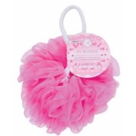 バスリリー ロレーヌ 泡立てネットボール ボディ用 ピンク