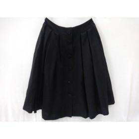 【中古】 フォクシー FOXEY スカート サイズ38 M レディース 美品 黒 BOUTIQUE/ビーズ