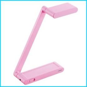 TWINBIRD 単三乾電池とAC電源で使用可能 たためるLEDライト ピンク LE-H315P