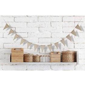 結婚式 パーティー 装飾 ジュート 黄麻布 ファブリックホオジロ バナー 小物 装飾 小道具