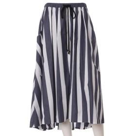 INED L / イネド(エルサイズ) 《大きいサイズ》ビッグポケットストライプスカート《Maison de Beige》
