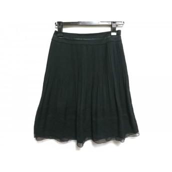 【中古】 ジユウク 自由区/jiyuku スカート サイズ30 XS レディース 黒 プリーツ