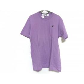 【中古】 プレイコムデギャルソン 半袖Tシャツ サイズL メンズ 美品 ライトパープル 黒