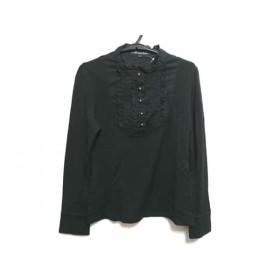 【中古】 ニジュウサンク 23区 長袖ポロシャツ サイズ32 XS レディース 黒 Vingt-trois arrondissements