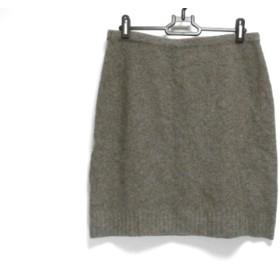 【中古】 ラルフローレン RalphLauren ミニスカート サイズM レディース 美品 ダークグレー ニット