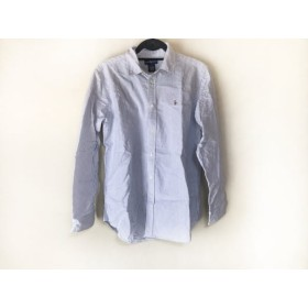 【中古】 ラルフローレン RalphLauren 長袖シャツ サイズ20 メンズ 白 ブルー