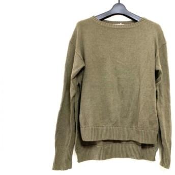 【中古】 ケイ シラハタ kei shirahata 長袖セーター サイズF メンズ カーキ