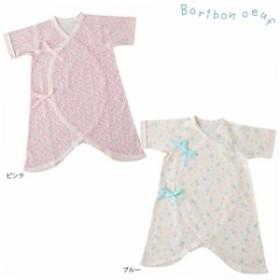 ボリボンウーフ boribon oeuf/星クマ柄 花柄 コンビ肌着 ベビー 肌着 50-60cm ボリボン ボリボンウーフ ベビー服 肌着 新生児 日本製 子