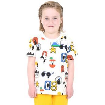 【グラニフ:トップス】グラニフ Tシャツ キッズ 男の子 女の子 半袖 子供服 プレイフルキッズショートスリーブティー(ビューティフルシャドーパッチ)