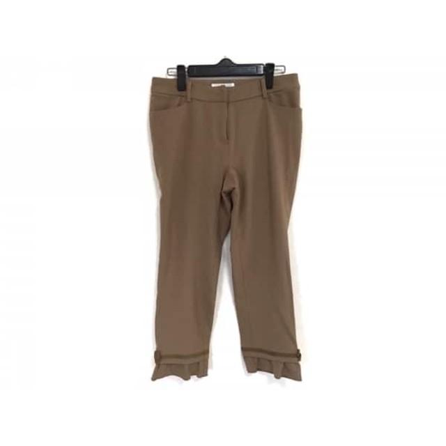 【中古】 ギャラリービスコンティ GALLERYVISCONTI パンツ サイズ2 M レディース ブラウン
